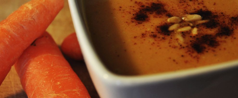 Carrot, Coconut Milk, & Lentil Soup