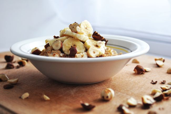 Hazelnut and Banana Porridge 1