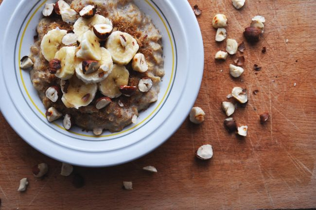 Hazelnut and Banana Porridge 2